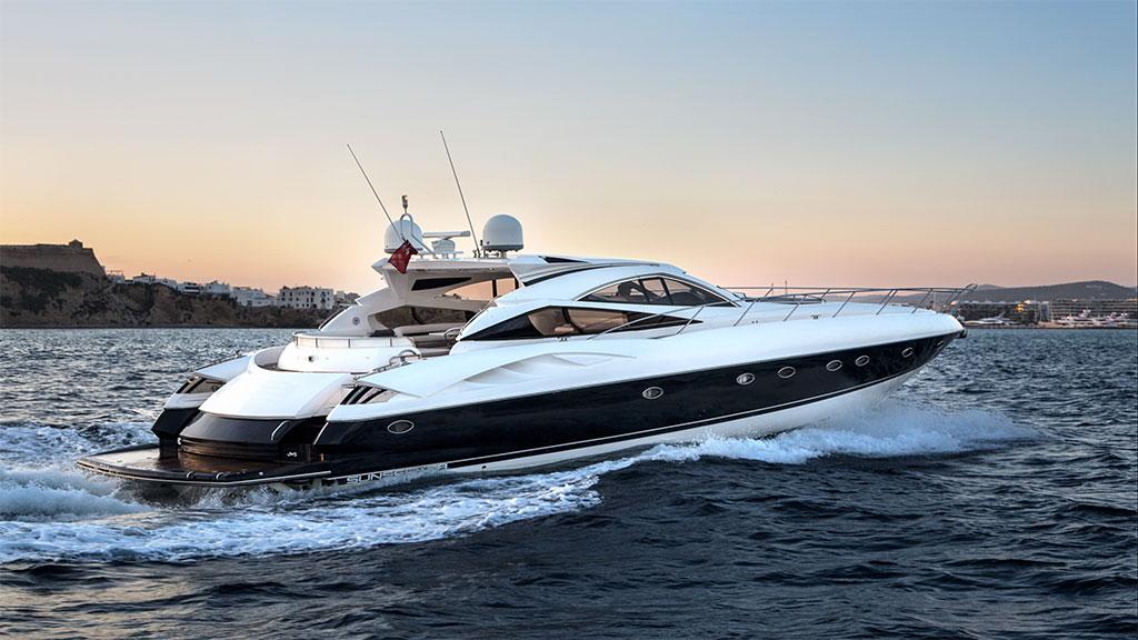 Ibiza motor boat charter Sunseeker Predator 68