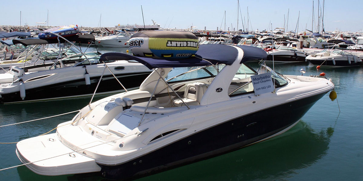 Sea Ray 295 SLX Sports Boat Charters from Puerto Banus