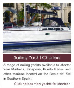 Sailing Yacht Charters on the Costa del Sol and Gibraltar